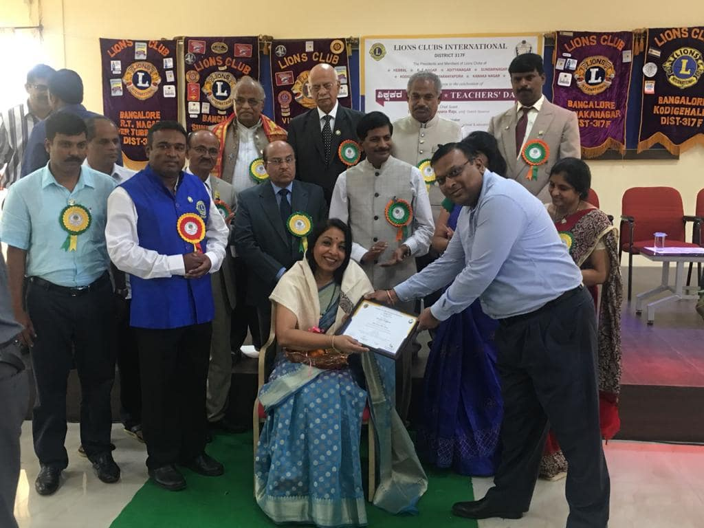 Felicitation by Lion's Club
